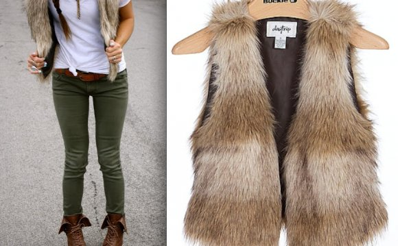Daytrip Faux Fur Vest - $49.95