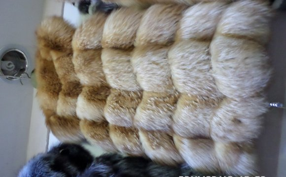 Red fox fur vest square