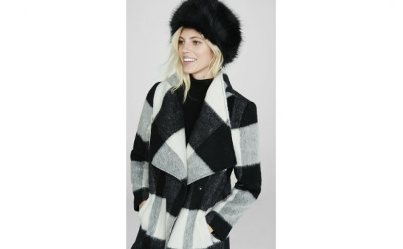 Express Black Faux Fur Cossack