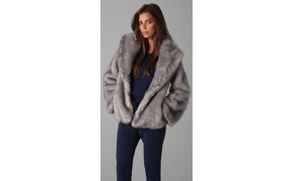 Halston heritage Faux Fur Coat