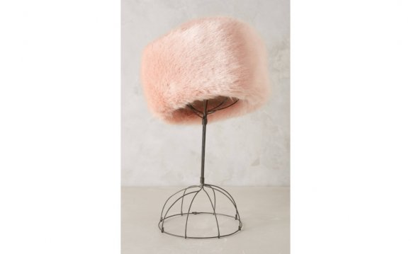 Helen moore Faux-Fur Pillbox