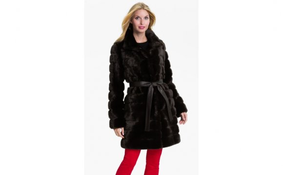 Kristen blake Belted Faux Fur