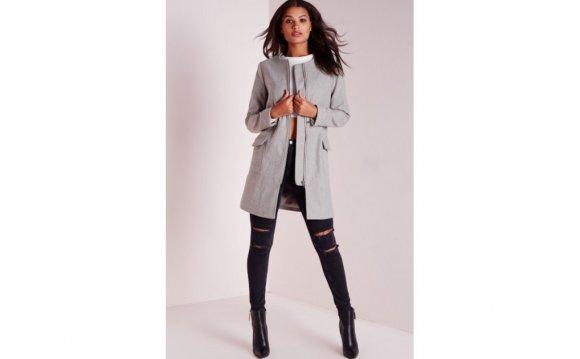 Detail Faux Wool Jacket