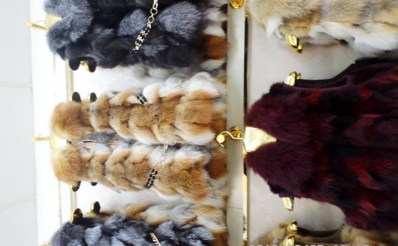 Real fur long fox vest(China