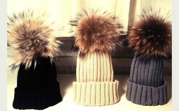 Pom Pom Designer Hat Large