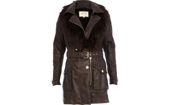 River island Dark Brown Faux