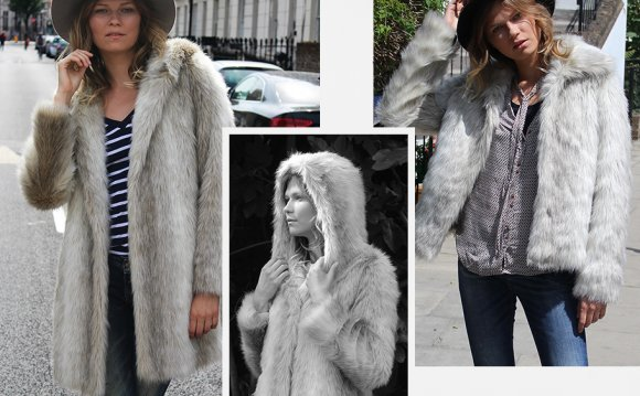 Arctic Fox Faux Fur Hooded