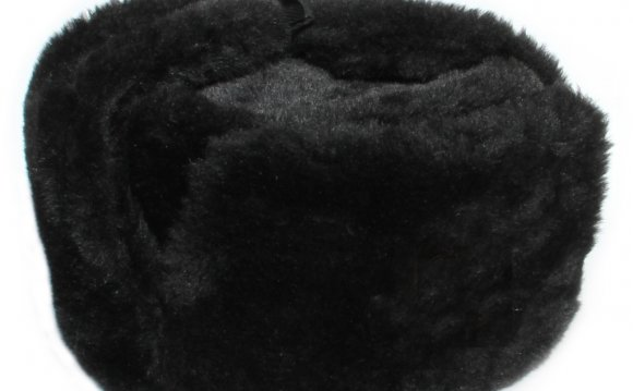 RUSSIAN WINTER Black USHANKA