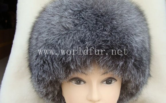 We renew silver fox fur hat