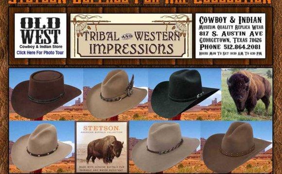 Stetson Buffalo Fur Hats From