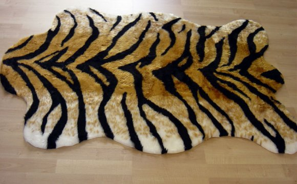 TIGER FAUX FUR RUG ANIMAL SKIN