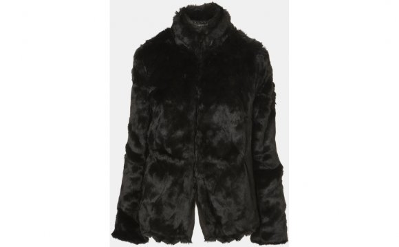 Topshop Faux Fur Jacket in