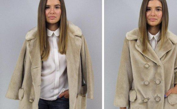 Vintage 60s Mod Faux Fur Coat