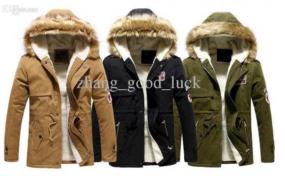Fur Collar Coat Army Green