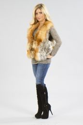 Accessorize everything with a real fur vest.