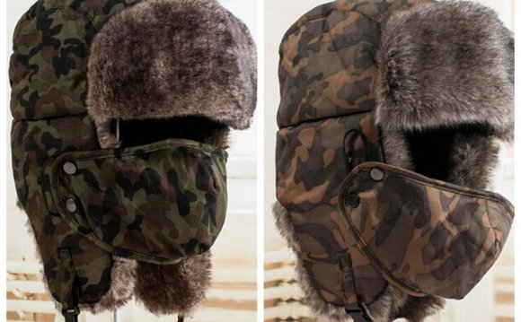 Mens Trapper Hats with Fur