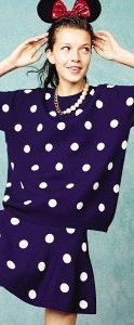 Bold graphic prints feature on polka dot outfits, £22 (necklace is £4)