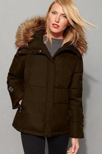 Brown parkas winter jacket by Calvin Klein