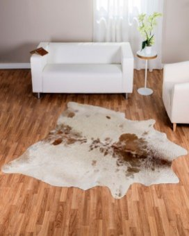 Brown & White Salt & Pepper Cowhide Rug