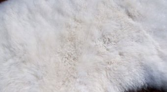 Clean sheepskin after washing