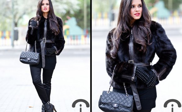 Black Fur Coats Womens
