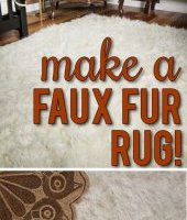 DIY faux fur rug! This is so fabulous,  easy and inexpensive!