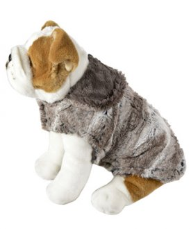 Dog Coat Luxury Faux Fur Birch with Cuddly Gray