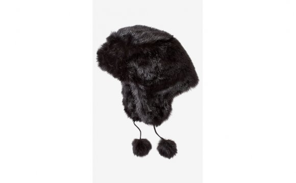 Black Faux Fur Trapper Hats