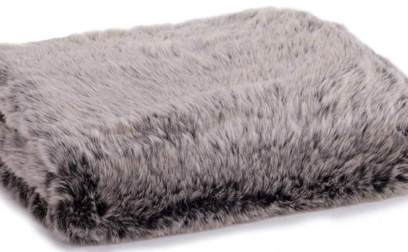 Black Faux Fur Blanket