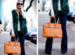 Faux Fur Vest_Vanessa Lambert_Emerald Green Vest_What Would V Wear