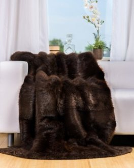 Full Pelt Beaver Fur Blanket / Fur Throw