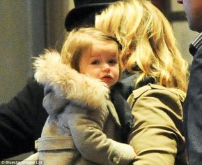Harper Beckham is also recently seen wearing a coat with real fur