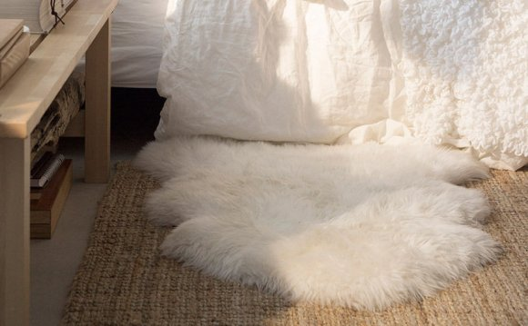 White Fur Rug IKEA