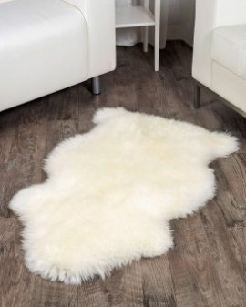 Ivory White Sheepskin Rug (2x3.5 ft)