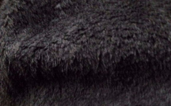 Black Faux Fur Throw Blanket