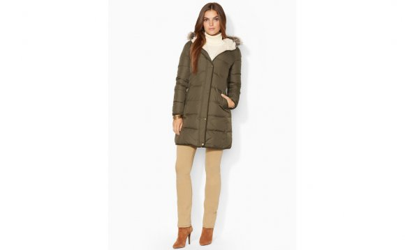 Faux Fur Trim Quilted Jacket