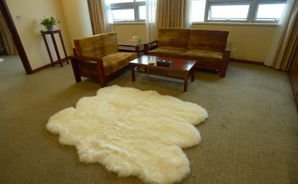 White Fur Carpet