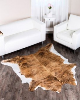 Striped Brindle Cowhide Rug