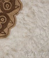 This is genius! How to make a faux fur rug!