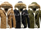 Green Coats with Fur Collar
