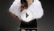 100% Real Ostrich Feathers Fur Stole Scarf Cape Wedding