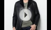Black Sheepskin Shearling Jacket for Men Online