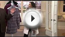Dennis Basso Stand Collar Faux Fur Coat with Front Pockets