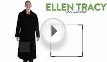 Ellen Tracy Wool Maxi Coat (For Women)