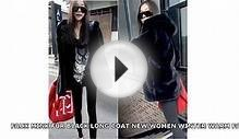 FAUX MINK FUR BLACK LONG COAT NEW WOMEN WINTER WARM