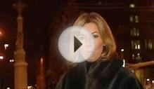Mary Nightingale in a full length fur coat