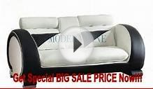 Modern Furniture White and Black Leather Sofa FOR SALE