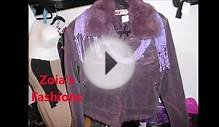 REAL RABBIT FUR COLLAR WARM CORDUROY JACKET SIZE 8