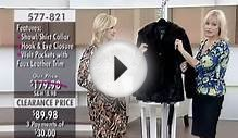 Regal Faux Furs Swing Jacket with Ruched Shawl/Shirt