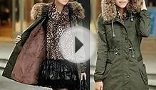 Women Fleece Winter Warm Parka Faux Fur Jacket OS28